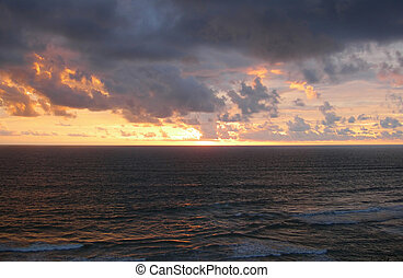 Sunset on the Indian Ocean in India - Sunset on the Indian...