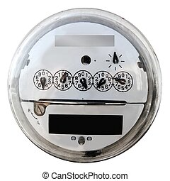 Analog electric meter display round glass cover - Analog...
