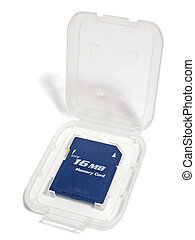 Card of memory in packing - Card of memory on 16 MB in...
