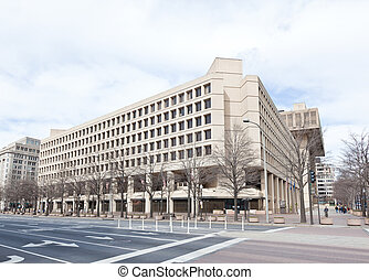 FBI building in Washington DC USA. This building was erected...
