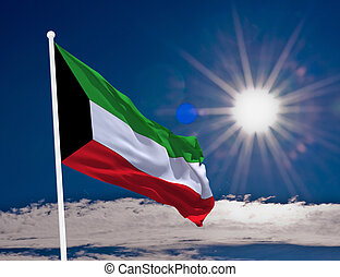 Flag Kuwait - High resolution image of the National flag of...