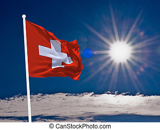 Flag Switzerland - High resolution image of the National...
