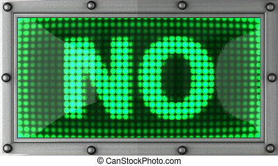 NO announcement on the LED display
