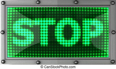 stop announcement on the LED display