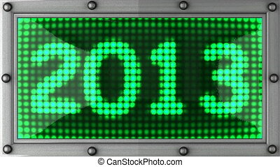 2013 announcement on the LED display