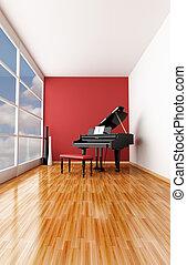 minimalist music room