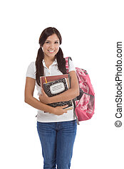 Hispanic College student - education series - Friendly...