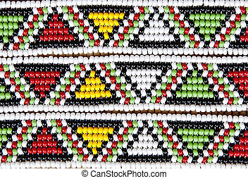 Traditional south african beads art hand made bracelet