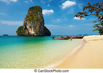 Tropical beach, Thailand - Tropical beach, Andaman Sea,...
