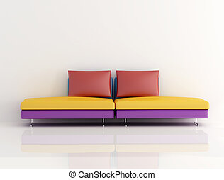 colored  modern couch