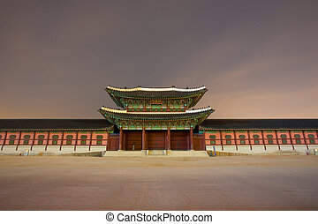 Entry Gate Gyeongbokgung Night Head On - Heungnymun at...