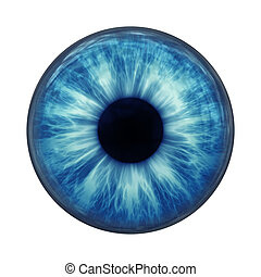 blue eye - An image of a blue eye ball glass