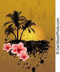 grunge tropical  background