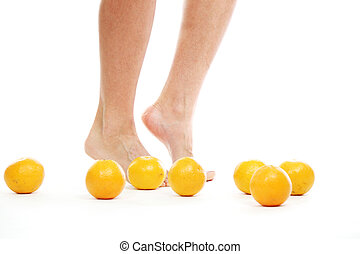 leg oranges - leg and oranges isolated white background