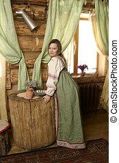 Portrait of a Russian woman.