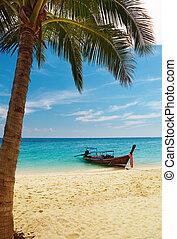 Tropical beach, Thailand - Tropical beach, Bamboo Island,...
