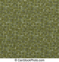 extra large 3d render of light green mosaic wall floor