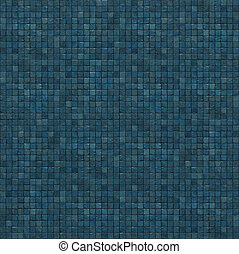 extra large 3d render of blue mosaic wall floor