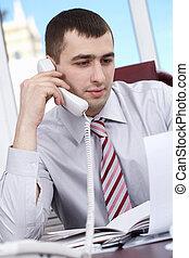 Pretentions businessman - Portrait of a businessman talking...