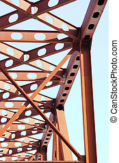 Bridge  - Close-up of Russian red railroad bridge