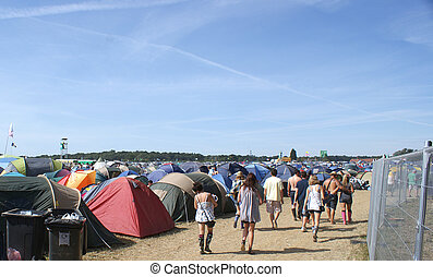 Music Festival - Campsite at a music festival