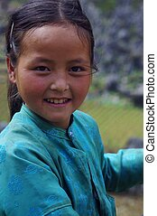 White Hmong Girl portrait - Portrait of a White Hmong girl...