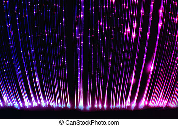 Fibre optic light curtain - This photograph taken in a light...