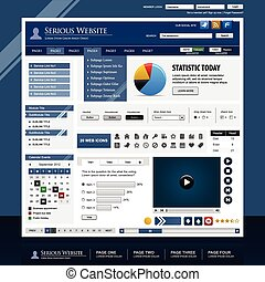 Web design element template - A set of web design template...