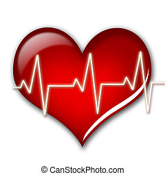 Health care concept Heart isolated over white