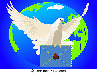 A dove with a letter
