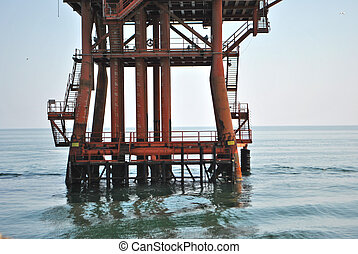 gas extraction platform in the Mediterranean Sea