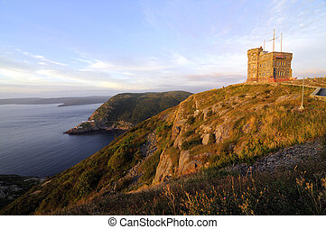 Signal Hill - Sunrise At Cabot Tower On Signal Hill St Johns...