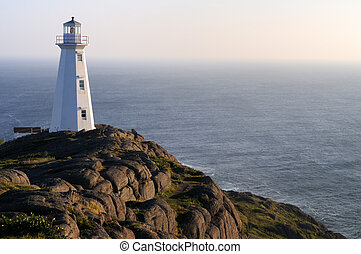 Lighthouse On Rocks - Sunrise At The Newer Cape Spear...