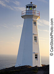 Lighthouse - Sunrise At The Newer Cape Spear Lighthouse 1955...