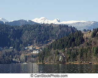 Lake Bled. Slovenia - Lake Bled. Slovenia. Triglav National...