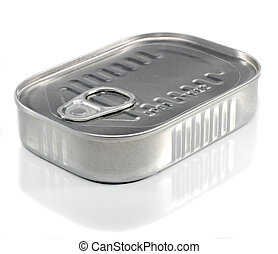 Sardine Can - Unopened Metal Ring Pull Sardine Can On A...
