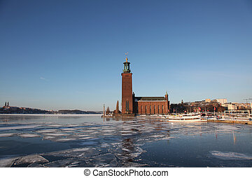 Stockholm City Hall - view at the Stockholm City Hall in...