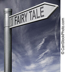 fairy tale road sign - Fairy tale road sign arrow with...