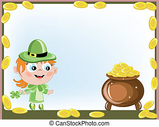 Leprechaun with a gold pot