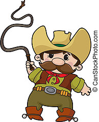 cowboy with whip