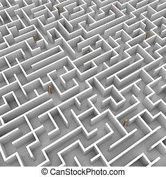 Mannequins stuck in maze