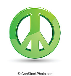 Peace Sign - illustration of peace sign on isolated white...