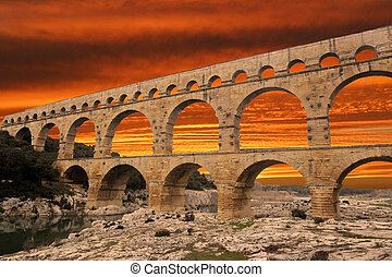 "Pont du Gard - picture of the ""Pont du Gard"" in Languedoc..."