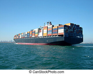 container ship in Odessa harbor for your designs