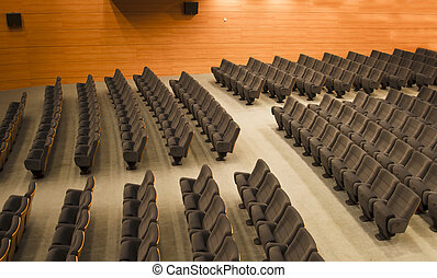 chairs of an auditorium