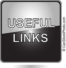 useful links black web button - useful links black button...