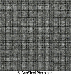 extra large 3d render of gray mosaic wall floor