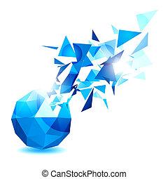 géométrique, objet, conception