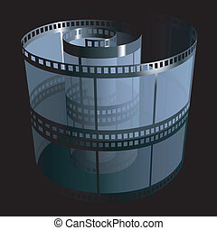 Filmstrip - detailed illustration, colored vector