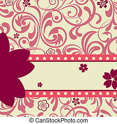 Pink cherry blossoms background - Illustration vector